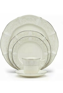 NEW Noritake Imperial Lace Platinum 5 Piece Place Setting