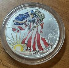 1999 American Silver Eagle 1 OZ .999 F.S. Colorized In Capsule