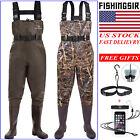 FISHINGSIR Waterproof Chest Waders NYLON PVC Bootfoot Wader for Fishing, Hunting