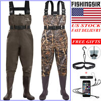 FISHINGSIR Waterproof Chest Waders NYLON PVC Bootfoot Wader for Fishing, Hunting