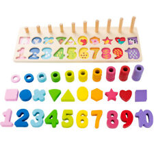 Kids Wood Sorting Puzzles Toddlers Montessori Early Education Toys Shape Sorter