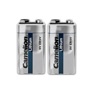 2x Camelion Lithium 9V Volt Block E Batterie Rauchmelder bis zu 10 Jahre ER9V