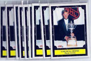 Wayne Gretzky - 9ct Card Lot - 1991-92 SCORE  LADY BYNG TROPHY CARD #324