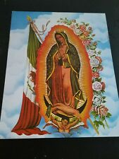 Large Lady of Guadalupe Picture Print in Lithograph by Dealer