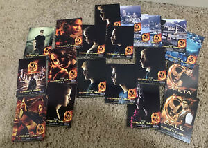 LOT OF 23 NECA OFFICIAL HUNGER GAMES TRADING CARDS