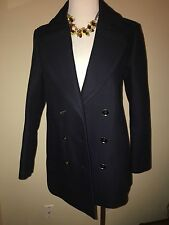 NWT BURBERRY WOMENS Brit Tumblebridge Navy Pea Coat Suit JACKET UK 12 US 10