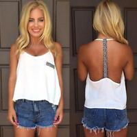 Women Ladies Summer Backless Vest Tops Sleeveless T-shirt Tank Tops Blouse Hot