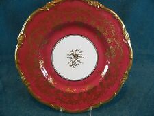 """Royal Cauldon China Cranberry Colored King's Plate 9 1/8"""" Round Luncheon Plate"""