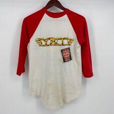 Y & T Mean Streak Tour 1983-84 Mens Graphic T-Shirt 3/4 Raglan Sleeve Tee M