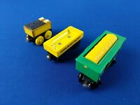 GRAIN CAR, HONEY BARREL CAR and MOLLY's TENDER / Thomas wooden trains
