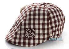 Handsome Plaid Everyday Baby Boy Cotton Hat Cap Beanie / 6 month-2 yrs