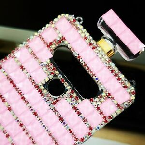 For LG K51/Q51/LG Reflect Case Sparkly Perfume Anti Fall Cover & Crossbody Strap