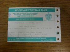 07/03/2000 Ticket: Football League [Auto Windscreen Shield] Area Final, Rochdale