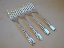 4 Old Oneida Grace Silver Royal York Salad Forks, 6-1/2in, Excellent New Like Cn
