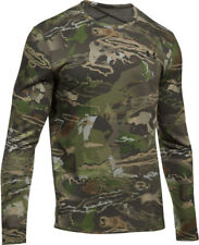 NWT Under Armour Men's ColdGear Mid Season Reversible Wool Base Crew Shirt Camo