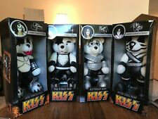 Kiss Limited Collector's Edition Teddy Bears, Set of 4 Gene, Paul, Ace and Peter