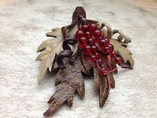 Handmade Real Leather Leaves Brooch LARP Festival. Made In England