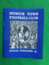 Football programme Ipswich v Burnley 29th August 1961