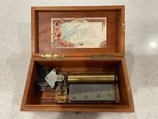 RARE 6 Airs Cylinder Music Box, Used, Still Plays, Needs some TLC