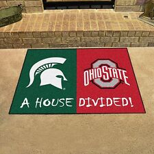 Michigan State Spartans - Ohio State Buckeyes House Divided All Star Area Rug