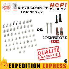 Kit vis complet iPhone 5 5C 5S SE 6-6S/plus 7-8/plus 10 X  pentalobe origine