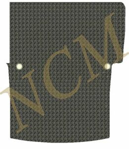 VW CADDY 2004-10 (SWB) SINGLE REAR DOOR TAILORED RUBBER VAN MAT IN 3 & 5MM Thick