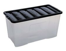 110 Litre Extra Large Plastic Storage Boxes Useful for Everything Toys Homeware