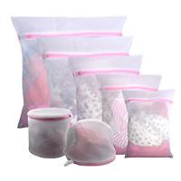 7Pcs Laundry Mesh Zipper Wash Bag Nylon Net Clothes Underwear Bra Socks Lingerie