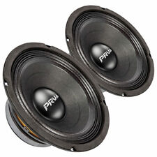 "Pair PRV Audio 8MB450 8"" Midbass Woofer 8 Ohm 450 Watts 93 dB 2"" Coil"