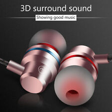 3.5mm Metal Stereo Headphone Bass Earphone Sport Headset Hands Free Earbuds Mic