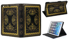 For iPad Air 1-2 / iPad Pro 9.7 / iPad 9.7 Vintage Book Smart Stand Case Cover