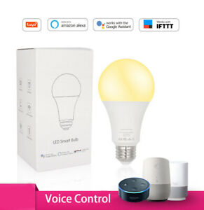 LED Smart Bulb Dimmable Cool&Warm Wifi Voice E26 Andoid iOS Google/Alexa Sensor