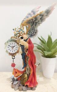 Medieval Fantasy Lady Angel Quartz Battery Mantel Clock #1427