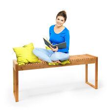 Banco de asiento de bambú hbt: 47x120x33cm madera banco de bambú terrassenbank pasillo recibidor