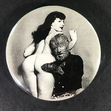 """Betty Page 2.25"""" Large Button Pin Up Model Sexy Hot Icon Legend Nostalgic Icon"""