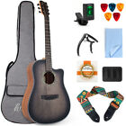 Horse 41 Inch Acoustic Guitar Top Spruce with Bag Strap Picks Tuner String Capo