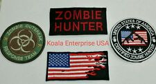 ZOMBIE OUTBREAK RESPONSE TEAM TACTICAL HUNTER UNIFORM SWAT OPS IRON ON PATCH SET