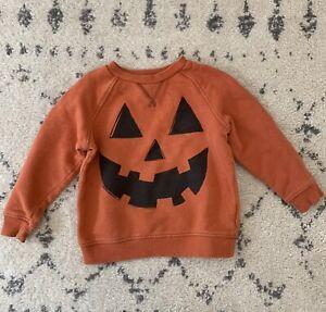 Gymboree Pumpkin Halloween Jack O Lantern Sweatshirt 2T