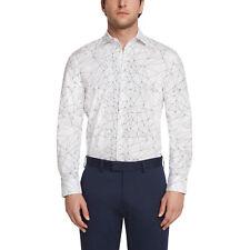 Daniel Hechter Paris Mens White Shape Fit Stellar Printed Button Down Shirt M