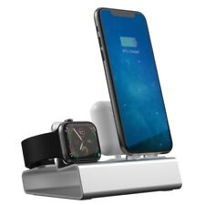3in1 Aluminum Charging Docking Station Stand For Apple Watch Airpods and iPhone