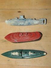 Lot of 3 Vintage Swirl Marbelized Plastic Ships Submarine Thomas