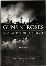 "7/1/95PGN17 SINGLE ADVERT 10X7"" GUNS N ROSES : SYMPATHY FOR THE DEVIL"