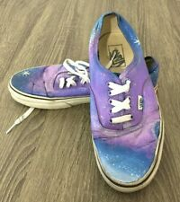 Vans Men's Skate Shoes RARE Painted Purple Sky Star Size 8