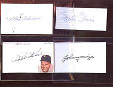 Baseball Hall of Famers Autographed Index Cards 10 Different Hologram