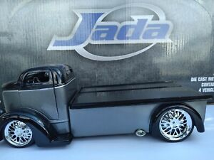 JADA JT 1/24 SCALE 1947 FORD COE FLATBED W/ CHROME WHEELS NEW NO BOX BLACK/GREY