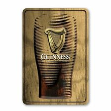 Guinness Wood Sign with Tulip Pint ~ Wood Burn Look ~ New