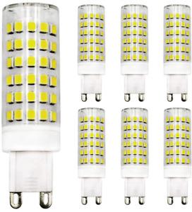 G9 Dimmable LED Bulb 9W Equivalent 80W Halogen Bulb Cool White 6500K, 220V-240V,