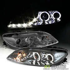 Smoke 2003-2006 Mazda 6 Mazda6 LED DRL Halo Projector Headlights Lamps 03-06 Set