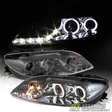 Smoke 2003-2006 Mazda 6 Mazda6 LED DRL Halo Projector Headlights Lamps 03-06 Set