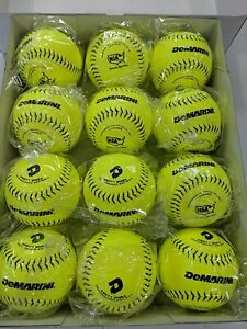 "3 DOZEN DEMARINI WTA9071BNSA LEATHER NSA 12"" SOFTBALLS 36 BALLS 52 - 275"